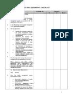 ISO 9001-2008 Audit Checklist