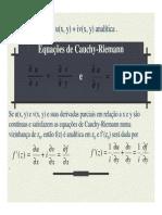 Equacoes de Cauchy-Riemann