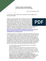 Ecuador, ¿Patria Alfabetizada? Respuesta de Rosa María Torres a Raúl Vallejo Corral