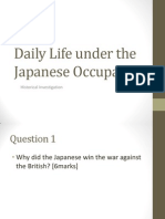 Daily Life under the Japanese Occupation part III