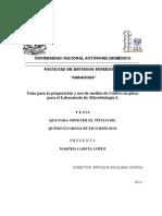 Guía para la preparación y uso de medios de Cultivo en placa para el Laboratorio de Microbiología I