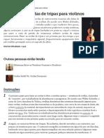 Como Fazer Cordas de Tripas Para Violinos _ eHow Brasil