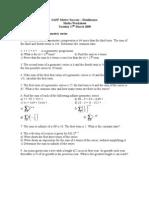 Maths Worksheet - Geometric Series