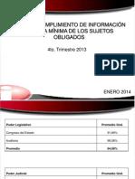 Cumplimiento IPM 4to Trim 2013