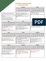 Calendar i o Soro Cab a 2014
