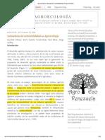 Agroecología_ Indicadores de sustentabilidad en Agroecología