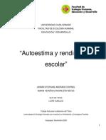 Andrade Autoestima y Rendimiento Escolar