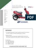 Hyosung Sf50 Prima 2007 Part Catalogue