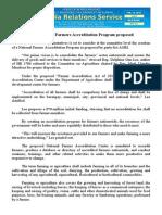 feb13.2014 bFree National Farmers Accreditation Program proposed