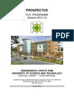 PhD Prospectus 2013 14