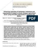 Enhancing Capacities of Individuals, Institutions and Organizations to Adapt to Climate Change in Agricultural Sector Using Innovative Approaches in Tanzania and Malawi