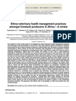 Ethno-veterinary health management practices amongst livestock producers in Africa – A review