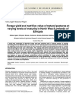 Forage Yield and Nutritive Value of Natural Pastures at Varying Levels of Maturity in North West Lowlands of Ethiopia
