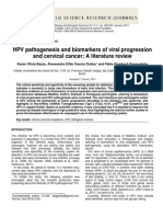HPV Pathogenesis and Biomarkers of Viral Progression and Cervical Cancer