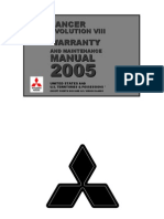 2005 Lancer Evo Warranty Booklet