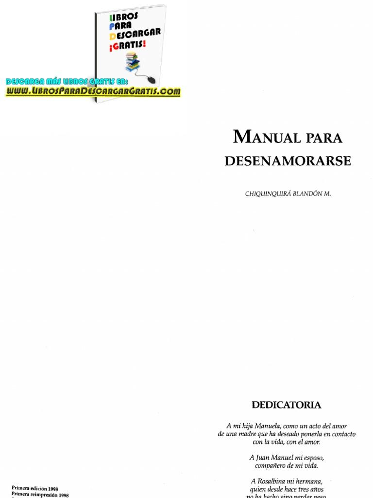 Manual Para Desenamorarse-Chiquinquira Blandon M  | Amor
