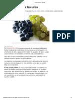 Cómo conservar las uvas