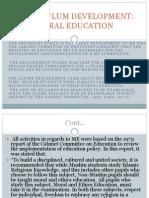 Curriculum Dev of Moral Education
