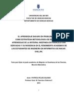 ABP COMO ESTRATÉGIA METODOLÓGICA DE ENSEÑANZA Y APRENDIZAJE DE LA INTEGRAL INDEFINIDA-DERIVADA