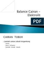 Balance Cairan - Elektrolit