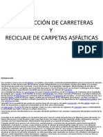 Construccion de Carreteras y Reciclaje de Carpetas Aasfalticas