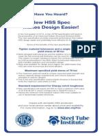 New HSS Spec