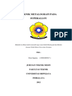 Teknik Metalografi Superalloys
