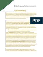 Irving Frederick Herzberg y sus teorías de motivación en el trabajo
