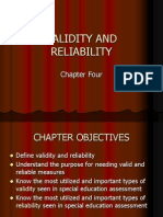 Chapter 4- Validity and Reliability