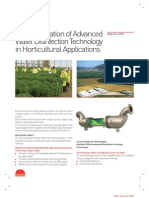 Horticultural Crops and Water Disinfection Technology