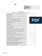 Stakeholder Analysis Worksheet