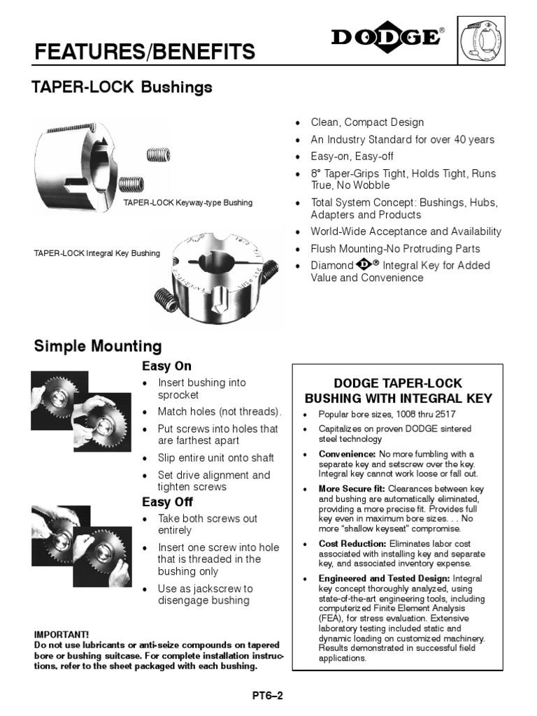 120356 DODGE SH X 1-3//16-KW BUSHING