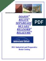 IndustrialAndPreparativeResin Catalogue