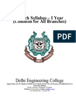 Delhi Engg Coll COMMON_1YR Syllabus