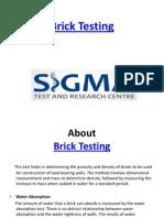 Brick Water Absorption Test