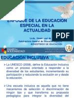 Noemi Stowlinski Enfoque de la Educación Especial en la Actu