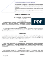 Ley de Idiomas Nacionales Guatemala