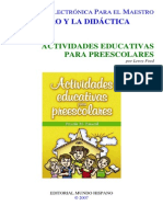 Actividades Educativas Para Preescolares - Priscila m. Patascil