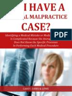 Do I Have a Medical Malpractice Case?