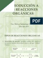4) Introducción reacciones orgánicas