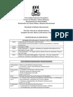 Cronograma Da Disciplina Intro Ri 20132