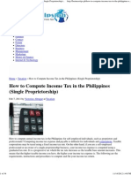 How to Compute Income Tax