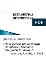 ESTADISTICA DESCRIPTIVA1