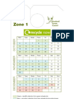 Waste and Recycling Collection Calendars