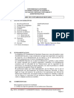 Silabo - Contabilidad Bancaria- 2013- I I- Eusebio Sarmiento -IX