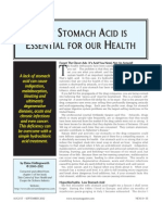 Why Stomach Acid is Essential for Our Health