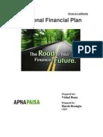 Vishal's Financial Planning by Apnapaisa