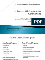 NJ DOT State and Federal Aid Programs for Communities