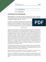 10 Plazas de PDI Laboral en La UEx