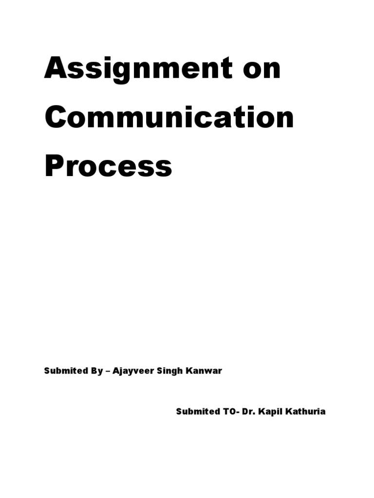Communication assignment